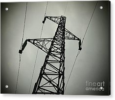 Power Pole Acrylic Print by Bernard Jaubert