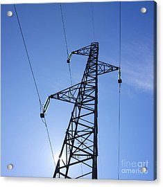 Power Pylon Acrylic Print by Bernard Jaubert
