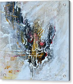 Powerful - Abstract Art Acrylic Print by Ismeta Gruenwald