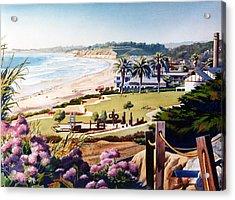 Powerhouse Beach Del Mar Lilac Acrylic Print by Mary Helmreich