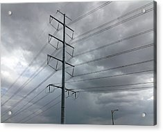 Powerlines 1 Acrylic Print by Natalie Williams