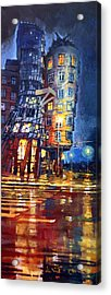 Prague Dancing House  Acrylic Print by Yuriy Shevchuk