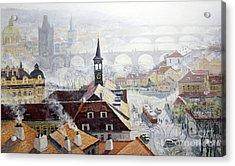 Praha Early Spring  Acrylic Print by Yuriy Shevchuk