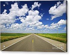 Prairie Highway Acrylic Print by Elena Elisseeva