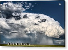Prairie Storm Clouds Acrylic Print by Mark Duffy