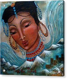 Pray For Tibet Acrylic Print by Maya Telford