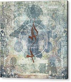 Prayer Flag 12 Acrylic Print by Carol Leigh