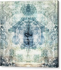 Prayer Flag 13 Acrylic Print by Carol Leigh