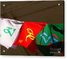 Prayer Flags Acrylic Print by Angela Wright