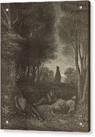 Prayer Of Jesus In The Garden Of Olives Acrylic Print by Antique Engravings