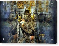 Prayer Reflection Acrylic Print by Money Sharma