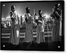 Prayers For Peace In Thaiand Acrylic Print by David Longstreath