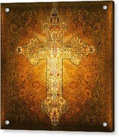 Precious Holy Cross Acrylic Print by Li   van Saathoff