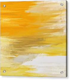 Precious Metals Abstract Acrylic Print by Andee Design