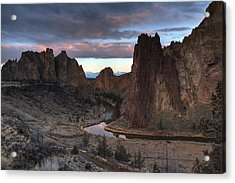 Predawn Pastel Acrylic Print by Coby Cooper