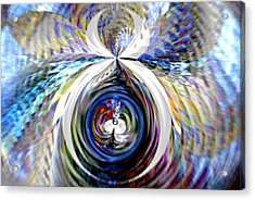Pregnancy  V4 Acrylic Print by Rebecca Phillips