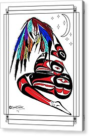 Prego Feathers Acrylic Print by Speakthunder Berry