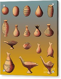 Prehistoric Clay Rattles Bronze Age Acrylic Print by Photo Researchers