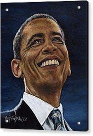 President Barack Obama Acrylic Print by Neil Feigeles