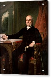 President John Quincy Adams  Acrylic Print by War Is Hell Store