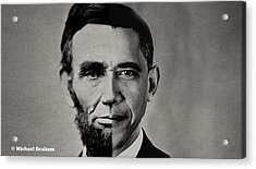 President Obama Meets President Lincoln Acrylic Print by Doc Braham