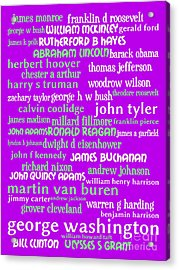 Presidents Of The United States 20130625p60 Acrylic Print by Wingsdomain Art and Photography