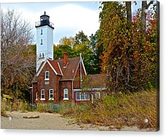 Presque Isle Lighthouse Acrylic Print by Frozen in Time Fine Art Photography