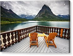 Priceless Glacier View Acrylic Print by Mark Kiver