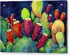 Prickly Pear Acrylic Print by Hailey E Herrera