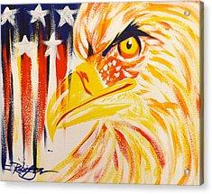 Primary Eagle Acrylic Print by Darren Robinson