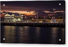 Princes Pier Gateway Acrylic Print by Shari Mattox
