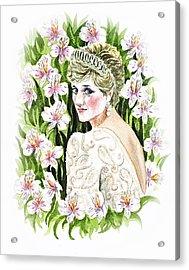 Princess Diana Acrylic Print by Irina Sztukowski