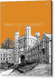 Princeton University - Dark Orange Acrylic Print by DB Artist