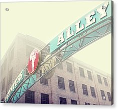 Printers Alley Acrylic Print by Amy Tyler