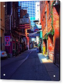 Printers Alley Nashville Tennessee Acrylic Print by Dan Sproul