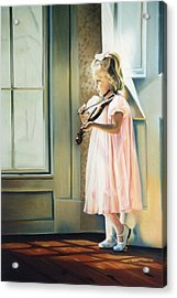 Private Commission Acrylic Print by Sally Buffington