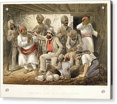 Prize Agents Extracting Treasure Acrylic Print by British Library