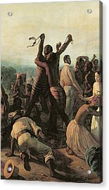 Proclamation Of The Abolition Of Slavery In The French Colonies, 23rd April 1848 Acrylic Print by Francois Auguste Biard