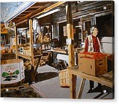 Produce Market Acrylic Print by Thomas Akers