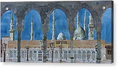 Prophet's Mosque Medina Acrylic Print by Martin Giesen