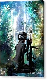 Protection Acrylic Print by Tammera Malicki-Wong