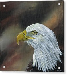 Proud Eagle Acrylic Print by Heather Bradley