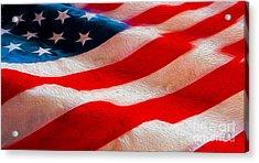 Proud To Be American Acrylic Print by Jon Neidert