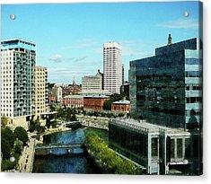 Providence Ri Skyline Acrylic Print by Susan Savad