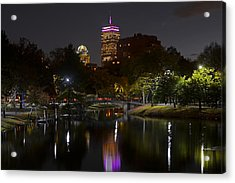 Prudential Over The Charles River Acrylic Print by Toby McGuire