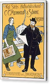 Pster Advertising C. C. Meinhold & Sons Acrylic Print by Hermann Behrens