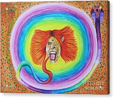 Psychedelic Art Painting Acrylic Print by Jeepee Aero