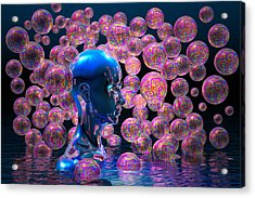 Psychedelic Bubbles Acrylic Print by Carol and Mike Werner