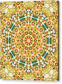 Psychedelic Pattern Acrylic Print by Jose Elias - Sofia Pereira