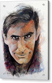 Psycho - Anthony Perkins Acrylic Print by William Walts